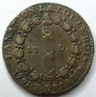 Photo numismatique  Monnaies Monnaies de la Révolution Constitution 12 Deniers LOUIS XVI, 12 deniers François, 1791 A Paris, AN 3, G.15 TTB
