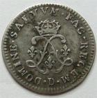 Photo numismatique  Monnaies Monnaies Royales Louis XIV Médaille 4 Sols aux 2 L LOUIS XIV, 4 sols aux 2 L, 1693 D Lyon, 1.47 grammes, G.106 TTB