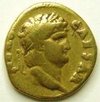 Photo numismatique  Monnaies Empire Romain NERON, NERO Aureus, aurei NERO, NERON, aureus, Rome en 64.65, Augustus Germanicus, 7.03 grammes, RIC.46 Rare! TB+