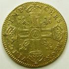 Photo numismatique  Monnaies Monnaies royales en or Louis XIV Médaille Louis d'or à la tête nue LOUIS XIV, Louis d'or à la tête nue, 1668 A Paris, 6.73 grammes, G.247 petit coup sur tranche sinon TTB+