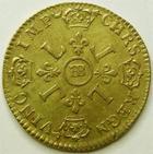 Photo numismatique  Monnaies Monnaies royales en or Louis XIV Médaille Louis d'or aux 4 L LOUIS XIV, Louis d'or aux 4 L, 1694 BB Strasbourg, 6.60 grammes, G.252 Belle réformation TTB+