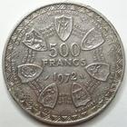 Photo numismatique  Monnaies Monnaies étrangères Afrique de l'ouest 500 Francs AFRIQUE DE L'OUEST, banque centrale des etats, 500 Francs 1972, KM.7 coups sinon TTB+