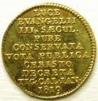 Photo numismatique  Monnaies Monnaies en dépôt vente Monnaie etrangère en or Zurich SUISSE, SWITZERLAND, Zurich, 1819, Ducat Zwingli, SUPERBE+
