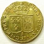 Photo numismatique  Monnaies Monnaies en dépôt vente Louis XVI Louis d'or au buste nu LOUIS XVI, louis d'or au buste nu, 1788 A Paris, SUPERBE avec son brillant d'origine!!