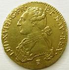 Photo numismatique  Monnaies Monnaies royales en or Louis XVI Double louis d'or au buste habillé LOUIS XVI, Double louis d'or au buste habillé, 1786 I Limoge, SUPERBE