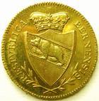 Photo numismatique  Monnaies Monnaies en dépôt vente Monnaie etrangère en or Berne SUISSE, SWITZERLAND, Bern 1794, Double doublon, dople doblone, SUPERBE+