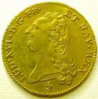 Photo numismatique  Monnaies Monnaies en dépôt vente Louis XVI Double louis d'or aux Ecus accolés LOUIS XVI, double louis d'or au buste nu, 1786 A Paris, SUPERBE avec son brillant!!