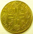 Photo numismatique  Monnaies Monnaies royales en or Louis XIV Médaille Louis d'or à la mèche longue LOUIS XIV, Louis d'or à la mèche longue, 1650 A Paris, TTB à SUPERBE
