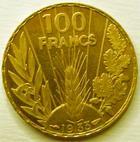 Photo numismatique  Monnaies Monnaies en dépôt vente Troisième République 100 francs or Bazor 100 francs or Bazor 1933, G.1148 SUPERBE à FDC