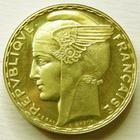 Photo numismatique  Monnaies Monnaies en dépôt vente Troisième République Piéfort du 100 francs or Bazor Piéfort du 100 francs or Bazor 1929, SUPERBE à FDC