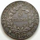 Photo numismatique  Monnaies Monnaies en dépôt vente 1er Empire 5 Francs NAPOLEON Ier, 5 francs 1806 BB Strasbourg, Bel exemplaire avec une jolie patine médailler!!