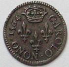 Photo numismatique  Monnaies Monnaies en dépôt vente Charles IX Essai du denier CHARLES IX, Essai du denier 1564, SUPERBE R!