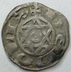 Photo numismatique  Monnaies Monnaies Féodales Berri Denier, denar, denario, denarius BERRI, Comté de Déols, Raoul VI 1160.1176, Denier, 1.01 grammes, Bd.278 TTB