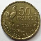 Photo numismatique  Monnaies Monnaies Françaises 4ème république 50 Francs 50 Francs Guiraud 1952, G.880 SUPERBE