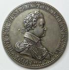 Photo numismatique  Monnaies Médailles Louis XIII Médaille en argent LOUIS XIII et MARIE DE MEDICIS régente, médaille en argent, 1614, Diamètre 44 mm, 34.43 grammes, SUPERBE