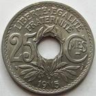 Photo numismatique  Monnaies Monnaies Françaises Troisième République 25 centimes Lindauer 25 centimes Lindauer 1915 Cmes souligné, G.379 TTB à SUPERBE