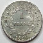 Photo numismatique  Monnaies Monnaies en dépôt vente 1er Empire 1 Franc NAPOLEON Ier, 1 franc 1810 A, SUPERBE