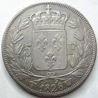 Photo numismatique  Monnaies Monnaies Fran�aises Charles X 5 Francs CHARLES X, 5 francs 1828 W Lille, G.644 TTB
