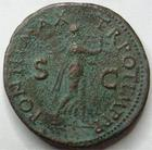 Photo numismatique  Monnaies Empire Romain NERON, NERO As, asse,  NERO, NERON, As, Lyon en 65, Néron sous les traîts d'Apollon jouant de la lyre, 10.82 grms, RIC.417 TB à TTB Rare!