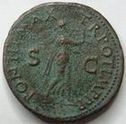 Photo numismatique  Monnaies Empire Romain NERON, NERO As, asse,  NERO, NERON, As, Lyon en 65, Néron sous les traîts d'Apollon jouant de la lyre, 10.82 grms, RIC.417 TB à TTB Rare!