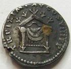 Photo numismatique  Monnaies Empire Romain TITUS, TITO Denier, denar, denario, denarius TITUS, Denier, Rome en 80, trône, 2.52 grammes, RIC.124 denier fourré sinon TTB