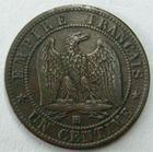 Photo numismatique  Monnaies Monnaies Françaises Second Empire 1 Centime NAPOLEON III, 1 centime lauré 1862 BB Strasbourg, G.87 TTB+