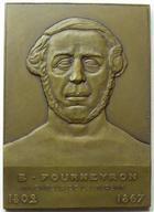 Photo numismatique  Monnaies Médailles Industrie Plaquette en bronze B.FOURNEYRON, inventeur de la turbine, plaquette en bronze 80x60 mm, poinçon triangle, gravé par Joanny-Durand, 1932, avec ecrin, SUPERBE+