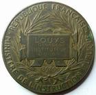 Photo numismatique  Monnaies Médailles Education Médaille bronze DOUBS, Instruction primaire, education nationale 1898-1899, médaille en bronze 50 mm, O.ROTY, poinçon corne, TTB à SUPERBE