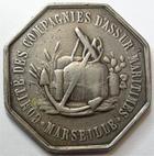 Photo numismatique  Monnaies Jetons Jeton d'assurance Assurances Maritimes MARSEILLE, jeton octogonal en argent, comité des compagnies d'assurances matirimes, gravé par Ricoux, Gail.465 TB à TTB Rare!R!