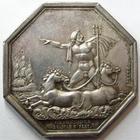 Photo numismatique  Monnaies Jetons Jeton d'assurance Assurances Maritimes L'OCEAN, compagnie d'assurance maritimes, ordonnance du 26 Mars 1837, poinçon lampe, gravé par Brenet, Gail.593 Presque SUPERBE Rare!