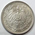 Photo numismatique  Monnaies Allemagne après 1871 Allemagne, Deutschland, Empire, Kaisereich 1 Mark 1/2 Mark 1915 F, J.16 SUPERBE+