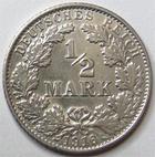 Photo numismatique  Monnaies Allemagne après 1871 Allemagne, Deutschland, Empire, Kaisereich 1 Mark 1/2 Mark 1916 G, J.16 SUPERBE