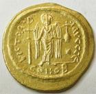 Photo numismatique  Monnaies Monnaies Byzantines 6ème siècle Solidus, solidii IUSTINIANUS I, JUSTINIEN Ier, solidus, 527.565, Constantinople, 4.41 grammes, MIBE.7 Presque SUPERBE