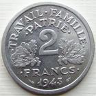 Photo numismatique  Monnaies Monnaies Françaises Etat Français 2 Francs 2 francs Bazor 1953, Aluminium, G.536 SUPERBE à FDC