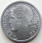 Photo numismatique  Monnaies Monnaies Françaises 4ème république 2 Francs 2 francs Morlon 1947, Aluminium, G.538b SUPERBE à FDC