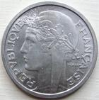 Photo numismatique  Monnaies Monnaies Françaises 4ème république 2 Francs 2 francs Morlon 1948 B, Aluminium, G.538b SUPERBE+