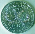 Photo numismatique  Monnaies Monnaies Fran�aises Cinqui�me R�publique 100 francs Marie Curie 100 francs Marie Curie 1984, G.899 SUPERBE+