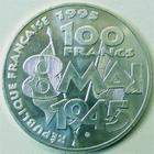 Photo numismatique  Monnaies Monnaies Fran�aises Cinqui�me R�publique 100 francs Armistice 100 francs comm�moration de l'armistice, 1995, G.952 SUPERBE � FDC