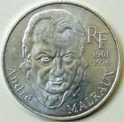 Photo numismatique  Monnaies Monnaies Françaises Cinquiéme République 100 francs Malraux 100 francs André Malraux 1997, G.954 SUPERBE+ difficile à trouver!