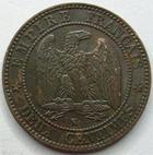 Photo numismatique  Monnaies Monnaies Françaises Second Empire 2 Centimes NAPOLEON III, 2 centimes tête laurée 1862 K Bordeaux, G.104 TTB à SUPERBE