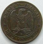 Photo numismatique  Monnaies Monnaies Françaises Second Empire 2 Centimes NAPOLEON III, 2 centimes tête laurée 1861 BB Strasbourg, G.104 TTB/TTB+
