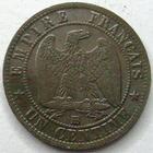 Photo numismatique  Monnaies Monnaies Françaises Second Empire 1 Centime NAPOLEON III, 1 centime tête laurée 1862 BB Strasbourg, G.87 TTB+