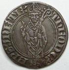 Photo numismatique  Monnaies Monnaies/médailles de Lorraine Thierry V de Boppart Gros Thierry V de Boppart, 1365.1383, Gros, Flon.6 Presque SUPERBE