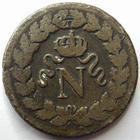 Photo numismatique  Monnaies Monnaies Françaises Blocus de Strasbourg Décime Blocus de Strasbourg, Napoleon Ier, un decime. 1814., point après decime et 1814, G.195b TB+