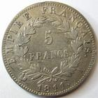 Photo numismatique  Monnaies Monnaies Françaises 1er Empire 5 Francs NAPOLEON Ier, 5 francs 1811 A Paris, G.584 TTB
