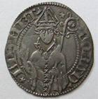 Photo numismatique  Monnaies Monnaies/médailles de Lorraine Conrad Bayer de Boppard Demi gros CONRAD BAYER de Boppard, 1416.1459, Demi gros, 0.94 grammes, Flon.3 TTB+ R!