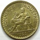 Photo numismatique  Monnaies Monnaies Françaises Troisième République 1 Franc 1 Franc Domard 1922, G.468 SUPERBE