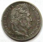 Photo numismatique  Monnaies Monnaies Françaises Louis Philippe 1/4 de Franc LOUIS PHILIPPE, 1/4 de franc 1839 A Paris, G.355 TTB
