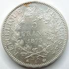 Photo numismatique  Monnaies Monnaies Françaises Troisième République 5 Francs 5 francs Hercule, 1873 A Paris, G.745a Presque SUPERBE