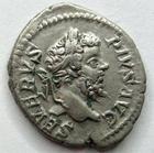 Photo numismatique  Monnaies Empire Romain SEPTIME SEVERE, SEPTIMUS SEVERUS, SEPTIMO SEVERO Denier, denar, denario, denarius SEPTIMIUS SEVERUS, SEPTIME SEVERE, denier, Rome en 205, Genie debout à gauche, 3.48 grammes, RIC.195 TTB